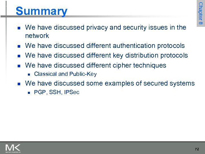 n n We have discussed privacy and security issues in the network We have