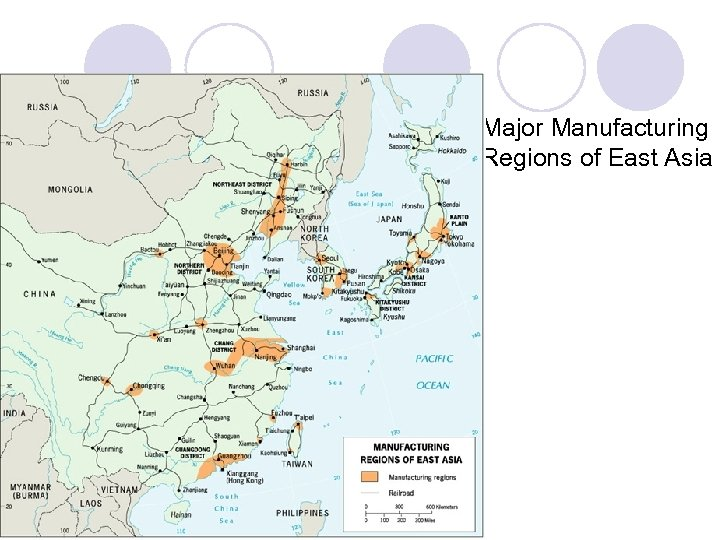 Major Manufacturing Regions of East Asia