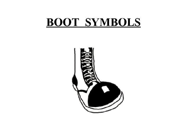 BOOT SYMBOLS