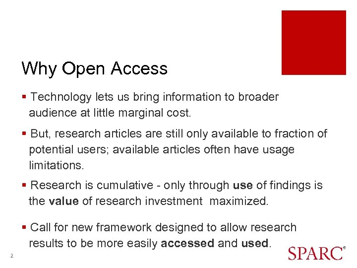 Why Open Access § Technology lets us bring information to broader audience at little