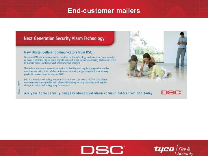 End-customer mailers CONFIDENTIAL