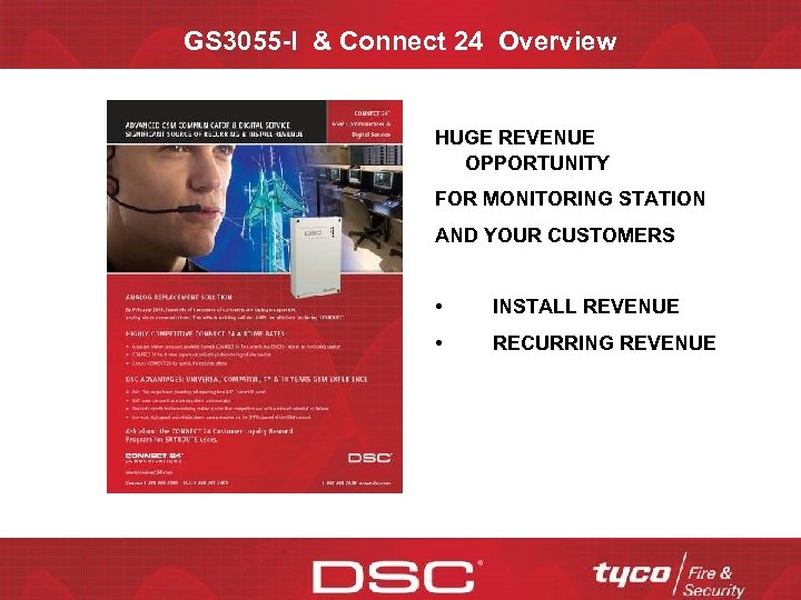 GS 3055 -I & Connect 24 Overview HUGE REVENUE OPPORTUNITY FOR MONITORING STATION AND