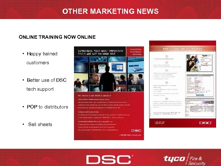 OTHER MARKETING NEWS ONLINE TRAINING NOW ONLINE • Happy trained customers • Better use
