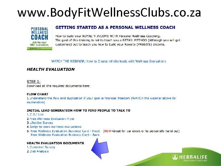 www. Body. Fit. Wellness. Clubs. co. za