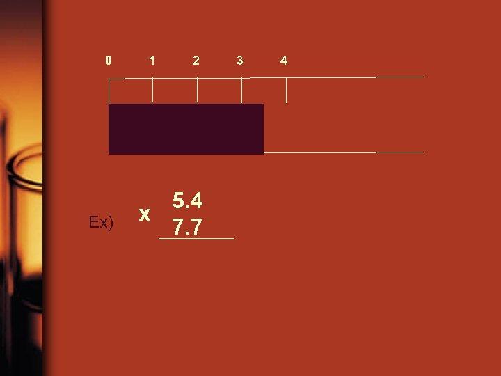 0 Ex) 1 2 5. 4 x 7. 7 3 4