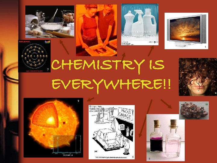 6 3 1 2 7 CHEMISTRY IS EVERYWHERE!! 4 9 10 5 8
