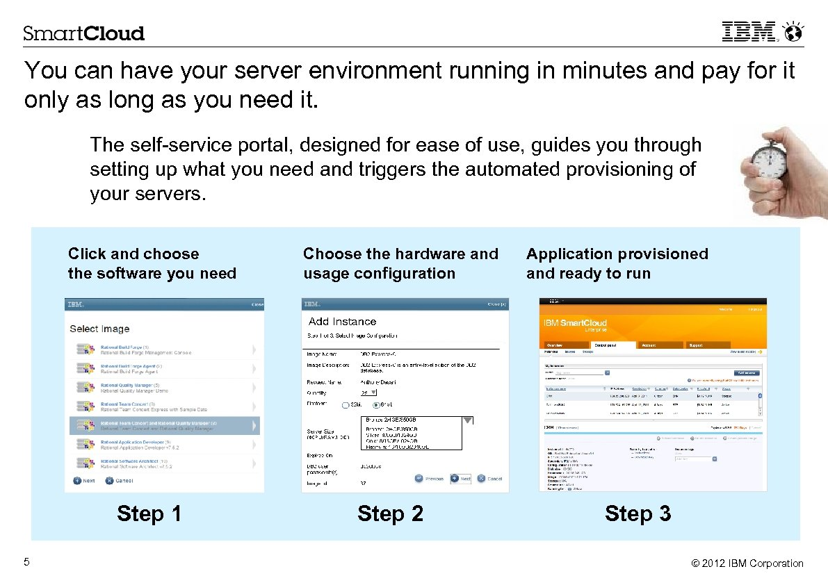 You can have your server environment running in minutes and pay for it only