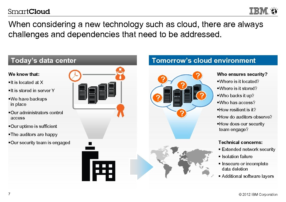 When considering a new technology such as cloud, there always challenges and dependencies that
