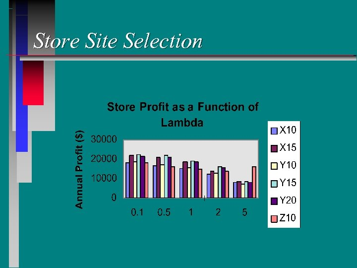 Store Site Selection