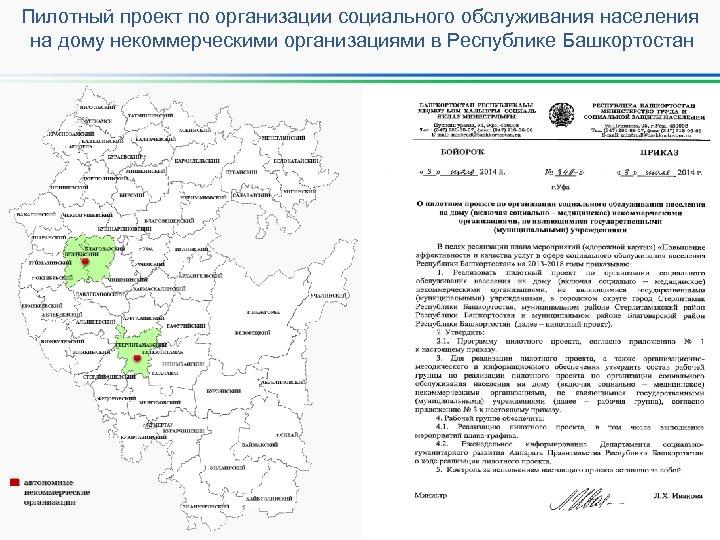 Пилотный проект по организации социального обслуживания населения на дому некоммерческими организациями в Республике Башкортостан