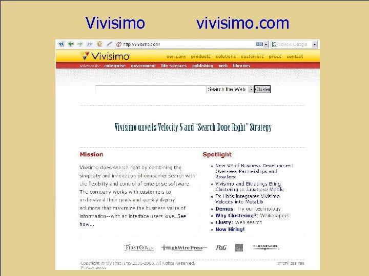 Vivisimo vivisimo. com