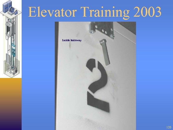 Elevator Training 2003 Inside hoistway 120