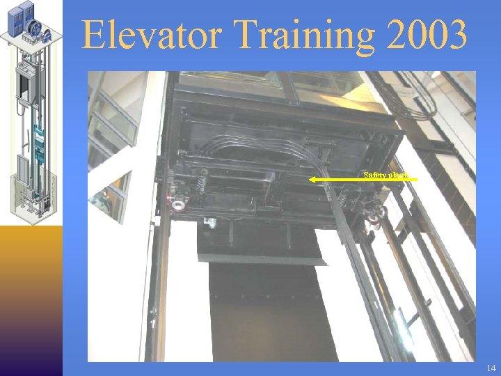 Elevator Training 2003 Safety plank 14