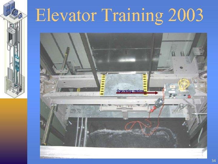 Elevator Training 2003 Operating station 34