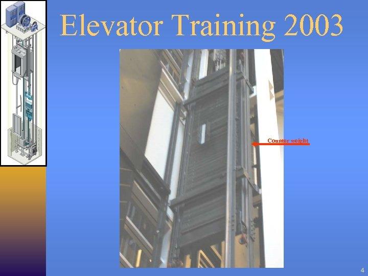 Elevator Training 2003 Counter weight 4