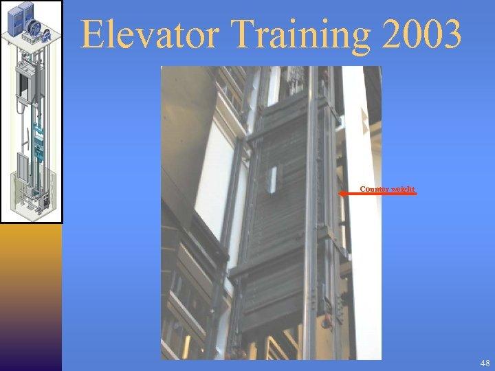Elevator Training 2003 Counter weight 48