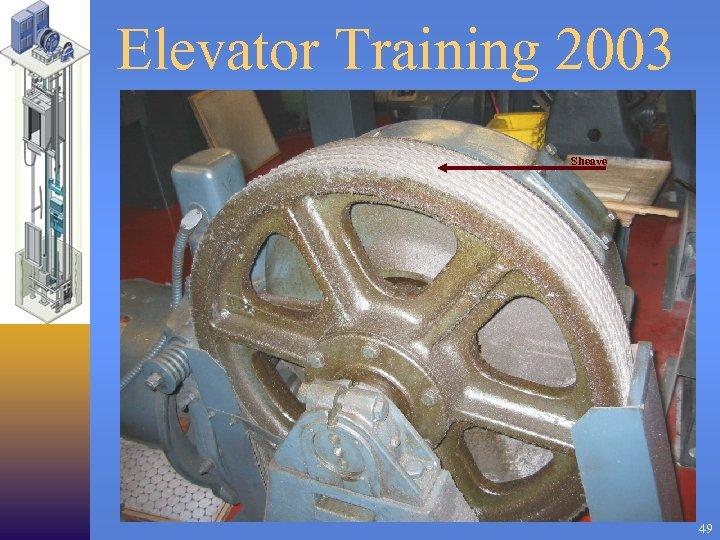 Elevator Training 2003 Sheave 49