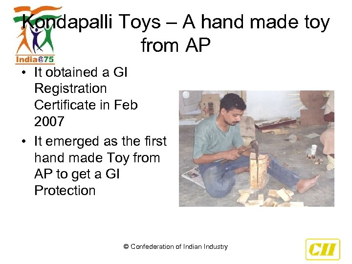 Kondapalli Toys – A hand made toy from AP • It obtained a GI