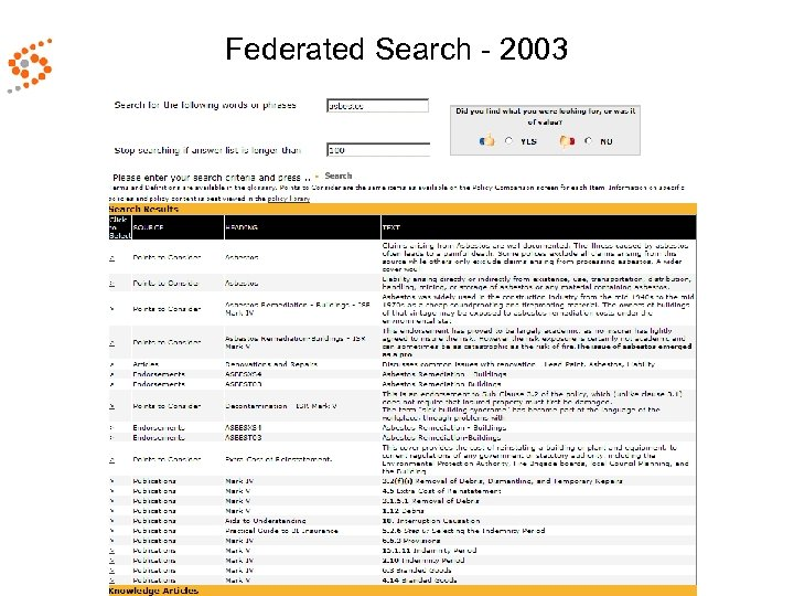 Federated Search - 2003