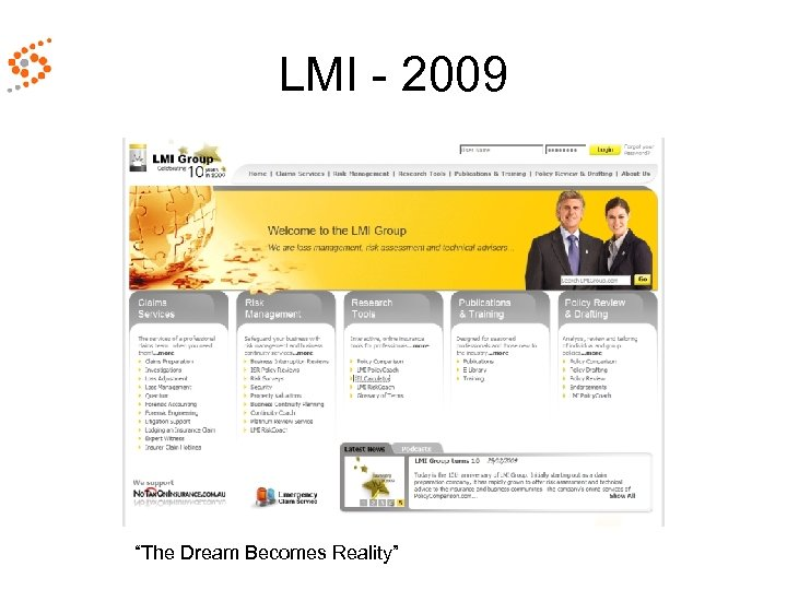 "LMI - 2009 ""The Dream Becomes Reality"""