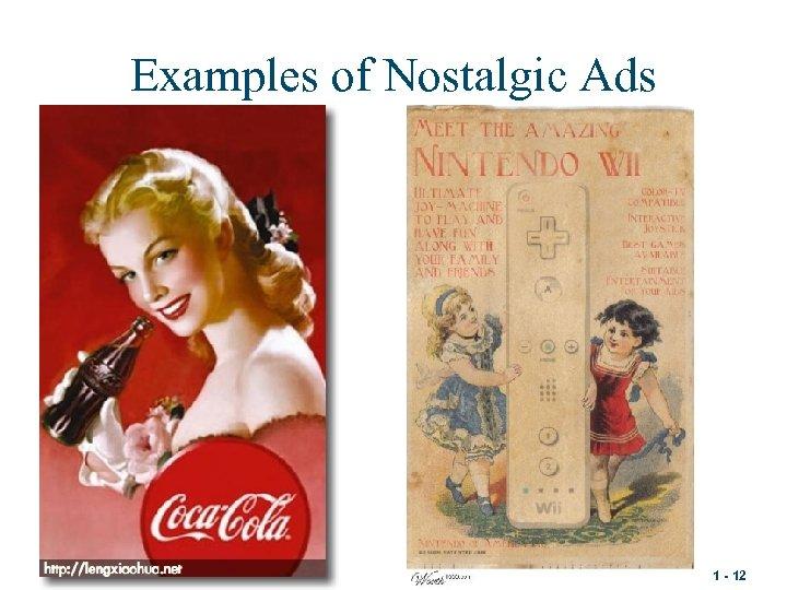 Examples of Nostalgic Ads 1 - 12