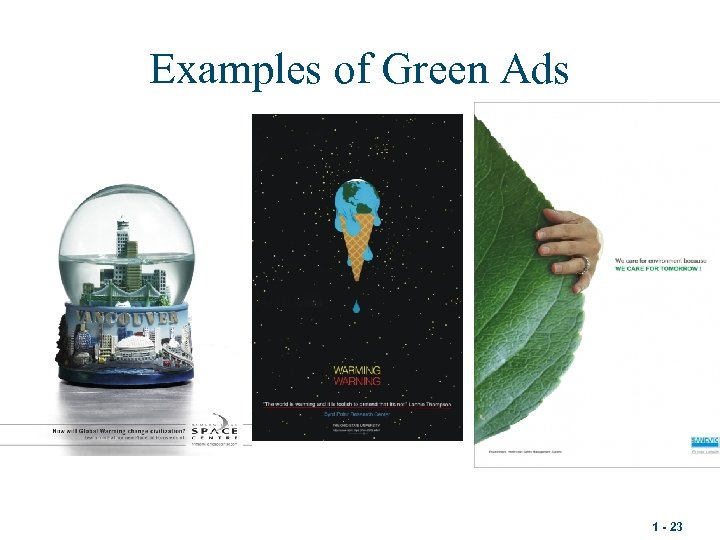 Examples of Green Ads 1 - 23