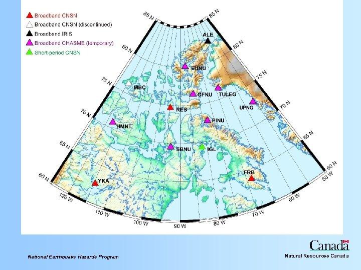 National Earthquake Hazards Program Natural Resources Canada
