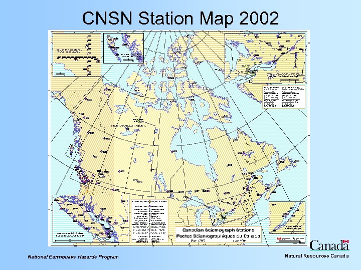 CNSN Station Map 2002 National Earthquake Hazards Program Natural Resources Canada