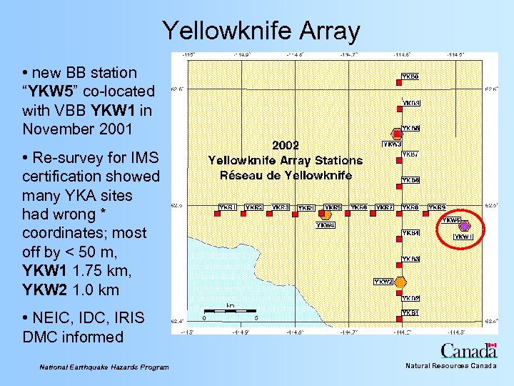 """Yellowknife Array • new BB station """"YKW 5"""" co-located with VBB YKW 1 in"""