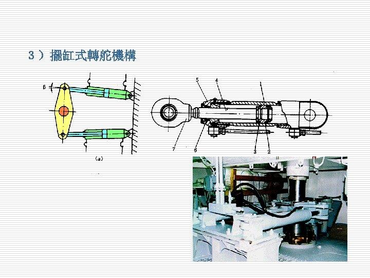3)擺缸式轉舵機構