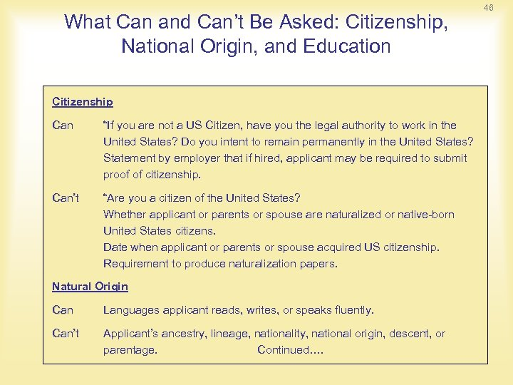 "What Can and Can't Be Asked: Citizenship, National Origin, and Education Citizenship Can ""If"