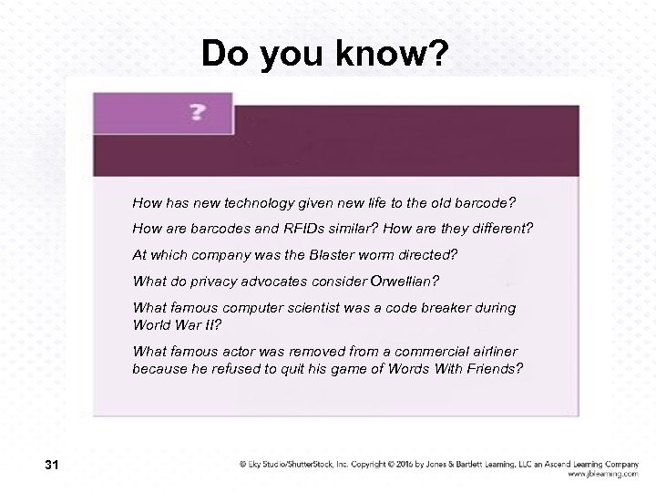 Do you know? How has new technology given new life to the old barcode?