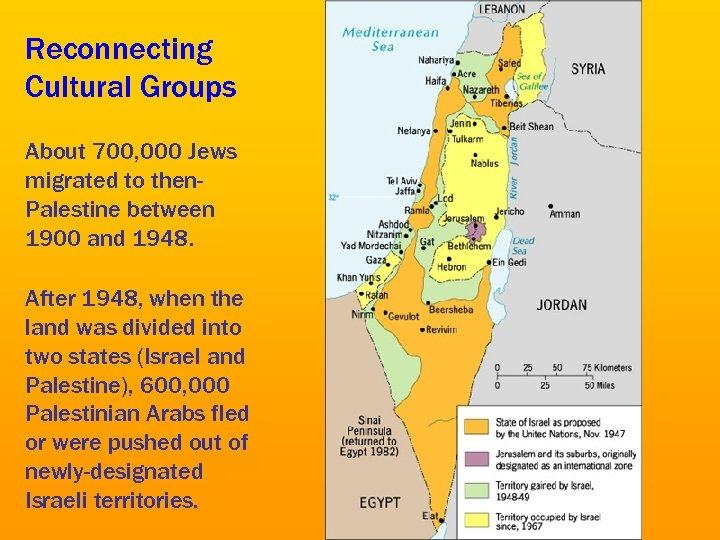 Reconnecting Cultural Groups About 700, 000 Jews migrated to then. Palestine between 1900 and