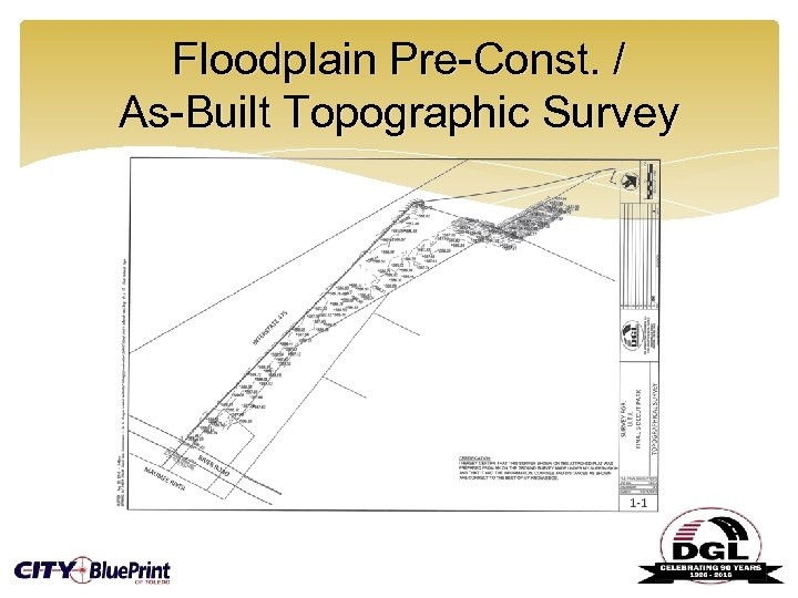 Floodplain Pre-Const. / As-Built Topographic Survey
