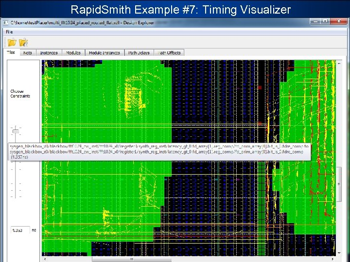 Rapid. Smith Example #7: Timing Visualizer