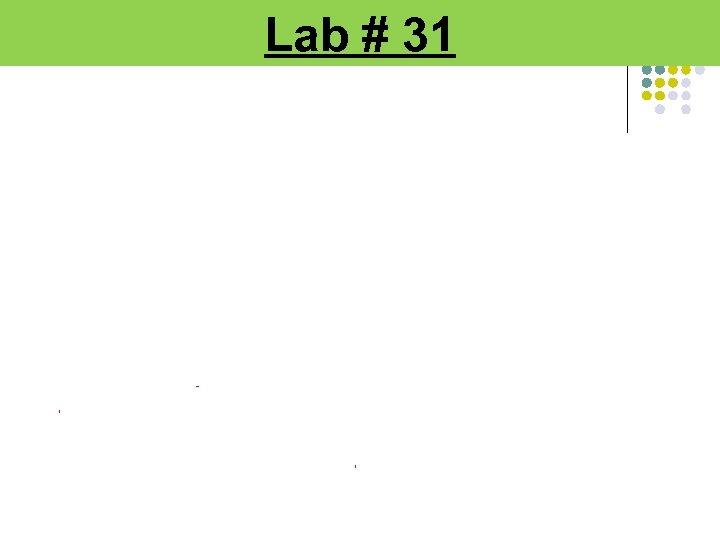 Lab # 31