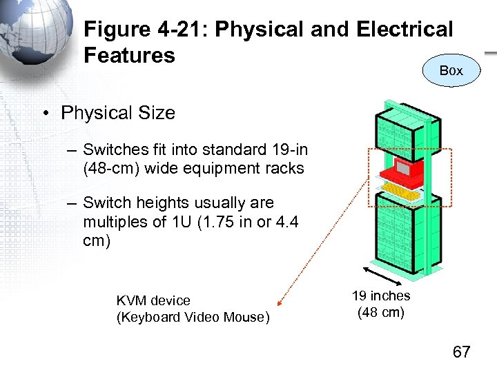 Figure 4 -21: Physical and Electrical Features Box • Physical Size – Switches fit