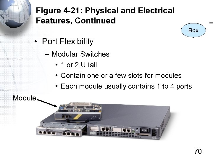 Figure 4 -21: Physical and Electrical Features, Continued Box • Port Flexibility – Modular