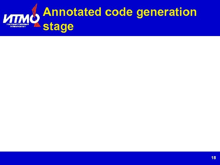 Annotated code generation stage 18