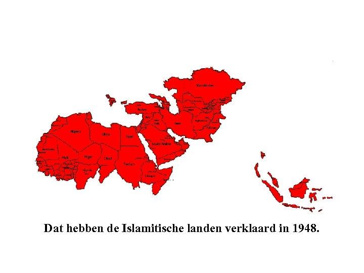 Dat hebben de Islamitische landen verklaard in 1948.