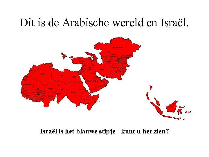 Dit is de Arabische wereld en Israël is het blauwe stipje - kunt u