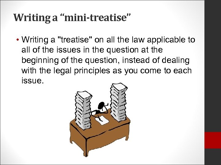 "Writing a ""mini-treatise"" • Writing a"