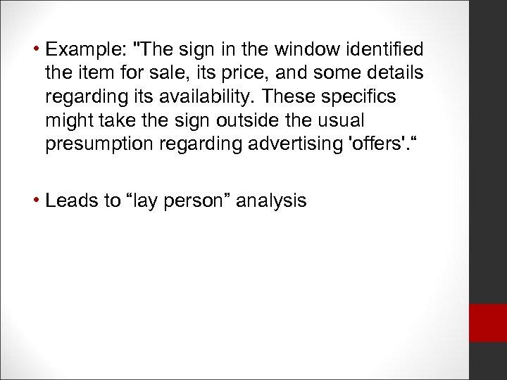 • Example: