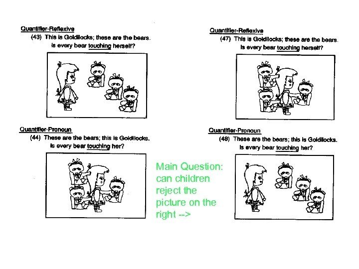 Main Question: can children reject the picture on the right -->