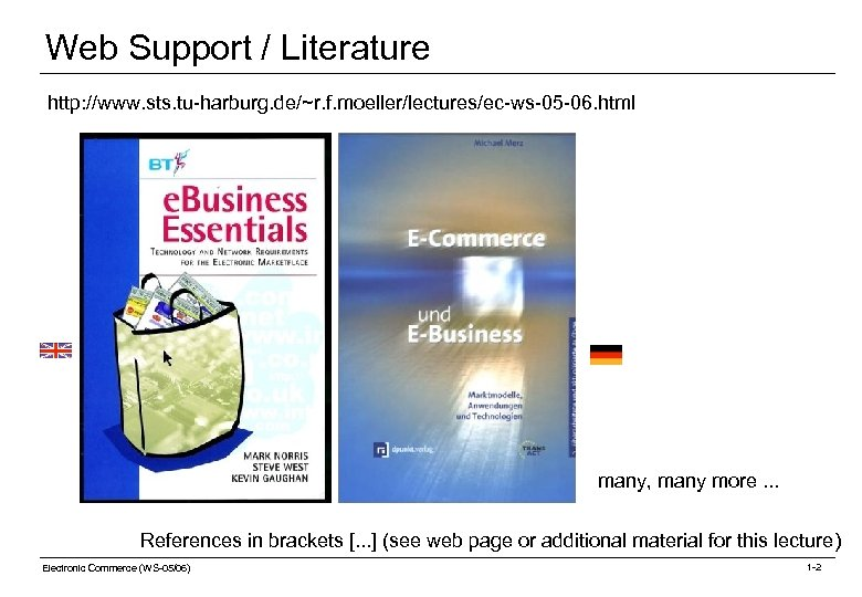 Web Support / Literature http: //www. sts. tu-harburg. de/~r. f. moeller/lectures/ec-ws-05 -06. html many,