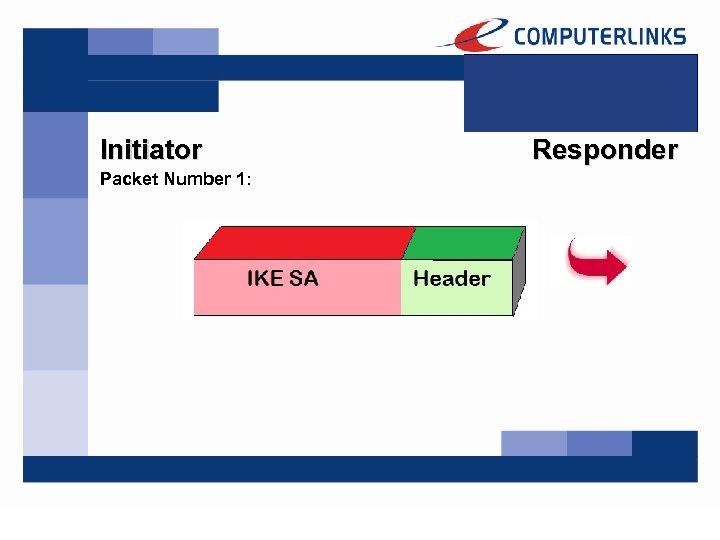 Initiator Packet Number 1: Responder