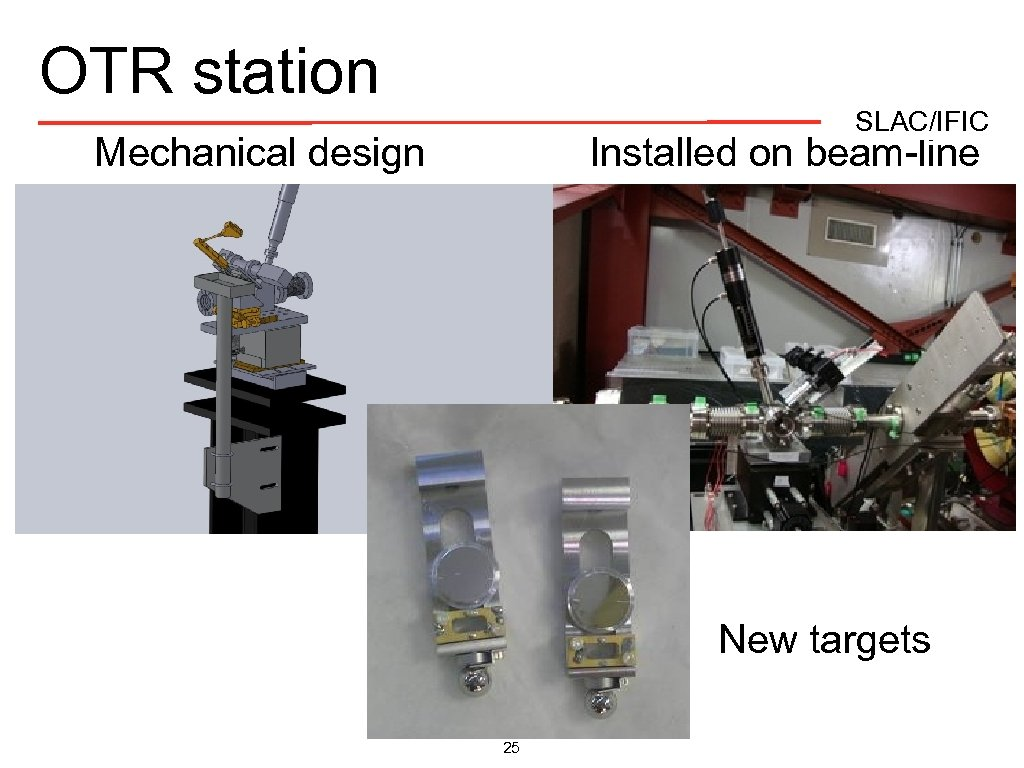 OTR station SLAC/IFIC Mechanical design Installed on beam-line New targets 25