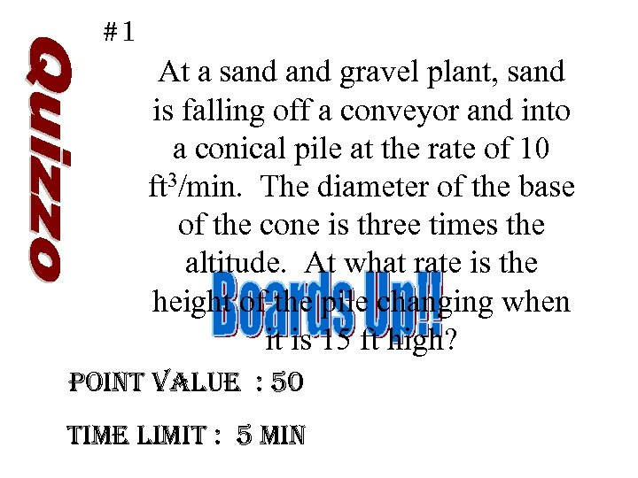 #1 At a sand gravel plant, sand is falling off a conveyor and into