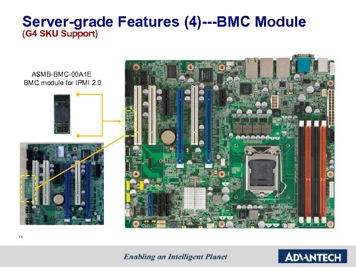 Server-grade Features (4)---BMC Module (G 4 SKU Support) ASMB-BMC-00 A 1 E BMC module