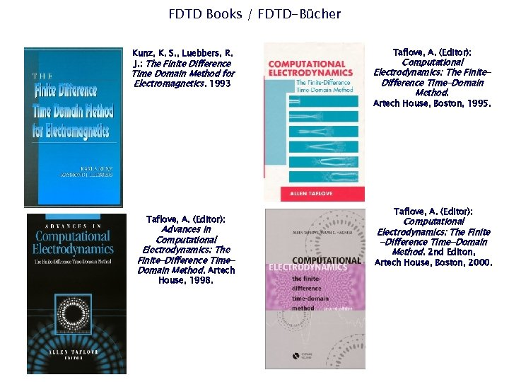 FDTD Books / FDTD-Bücher Kunz, K. S. , Luebbers, R. J. : The Finite